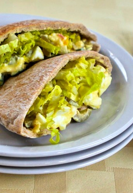 Egg Salad In Pita - budget lunch idea