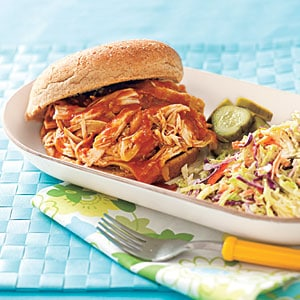 Pulled Chicken Sandwiches - easy lunch idea