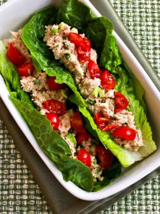 Tuna Salad Lettuce Wraps -cheap and easy lunch recipe