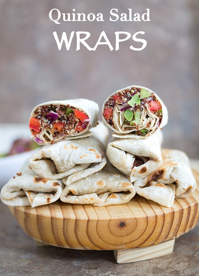 Quinoa Salad Wraps For Lunch - cheap and easy to make!