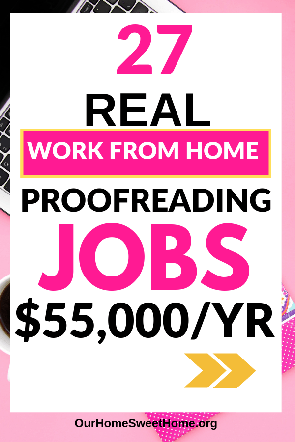 27 Online Proofreading Jobs From Home - See how you can get started as a freelance proofreader working from home online!