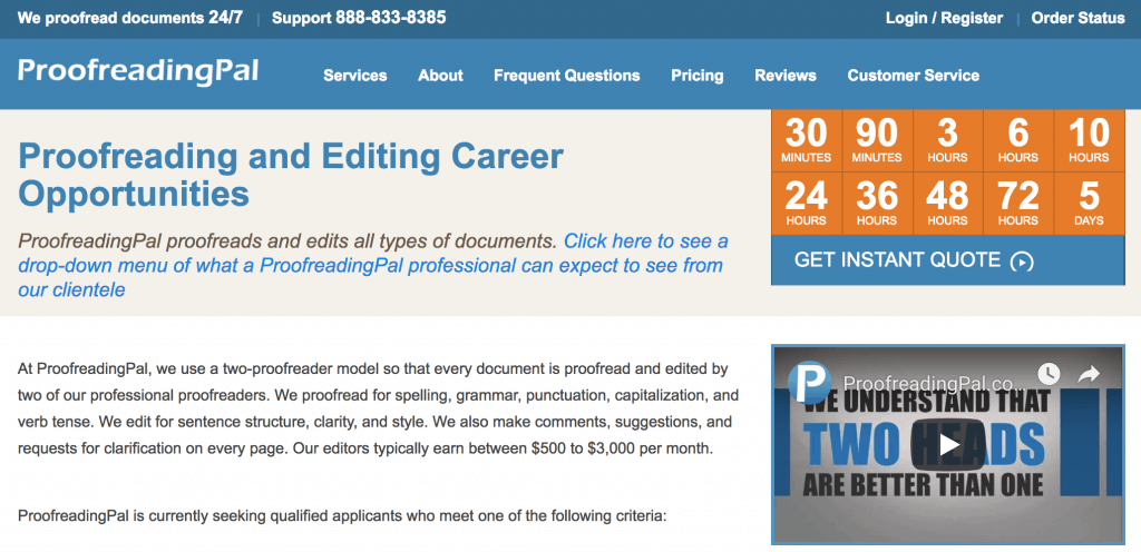 Proofreading services 24/7