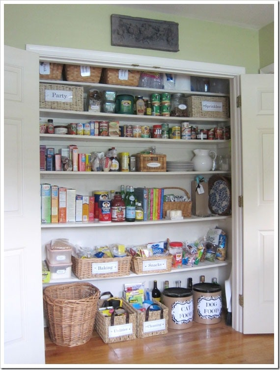 pantry out of a coat closet