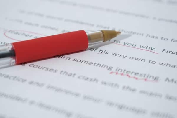 Online Proofreading Jobs For Beginners at Home, paper and pen
