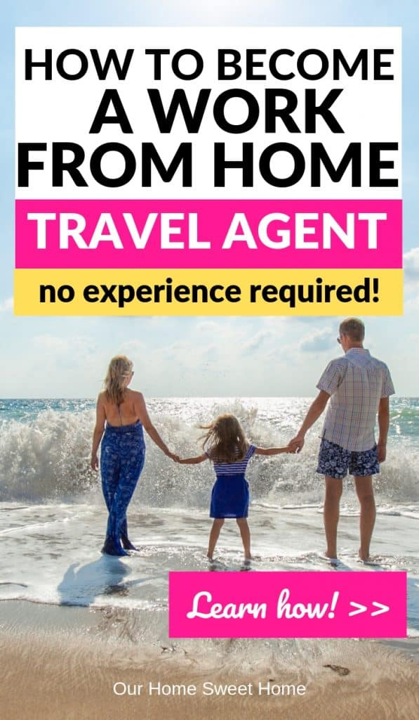 Become a Work From Home Travel Agent - pic of family on the beach