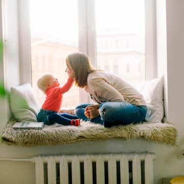 Legit Work From Home Jobs featured , mom and child