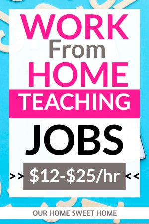 Work From Home Teaching Jobs , pic of alphabet letters