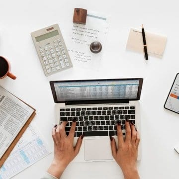 Become-a-bookkeeper-from-home-featured spreadsheets