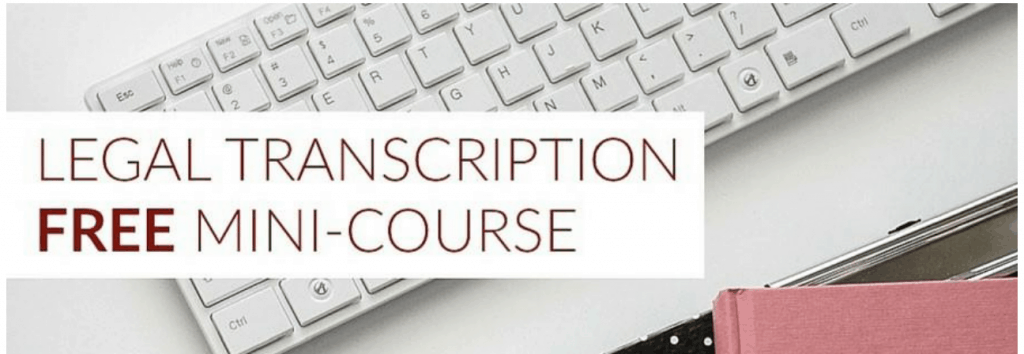 Free legal transcription training online, pic of computer