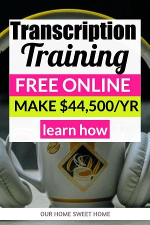 Free Transcription Training, girl on laptop