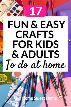 Fun and Easy Crafts for Kids and Adults To Do At Home, pic of art supplies