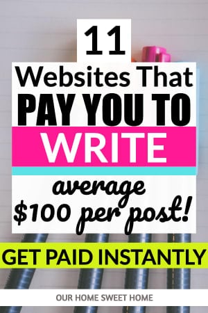 Write and Get Paid Instantly Online -11 Websites That Pay You To Write Articles: picture of writing supplies