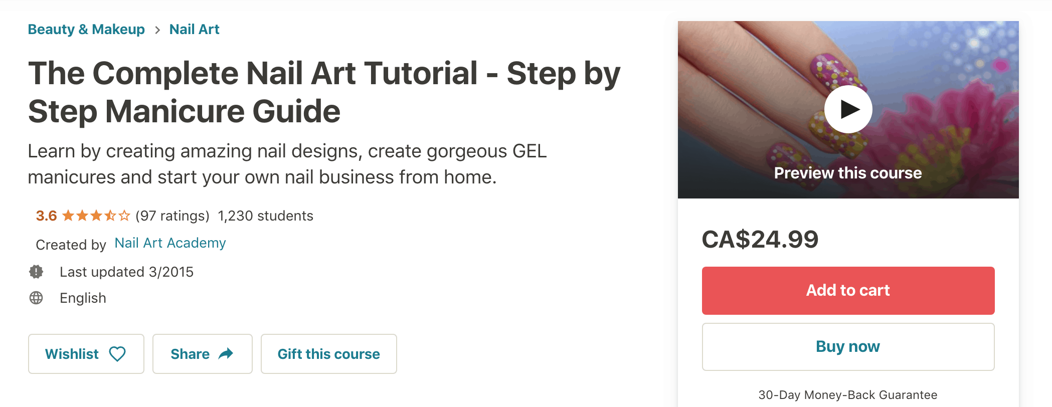 Udemy Complete Nail Art Course:screenshot