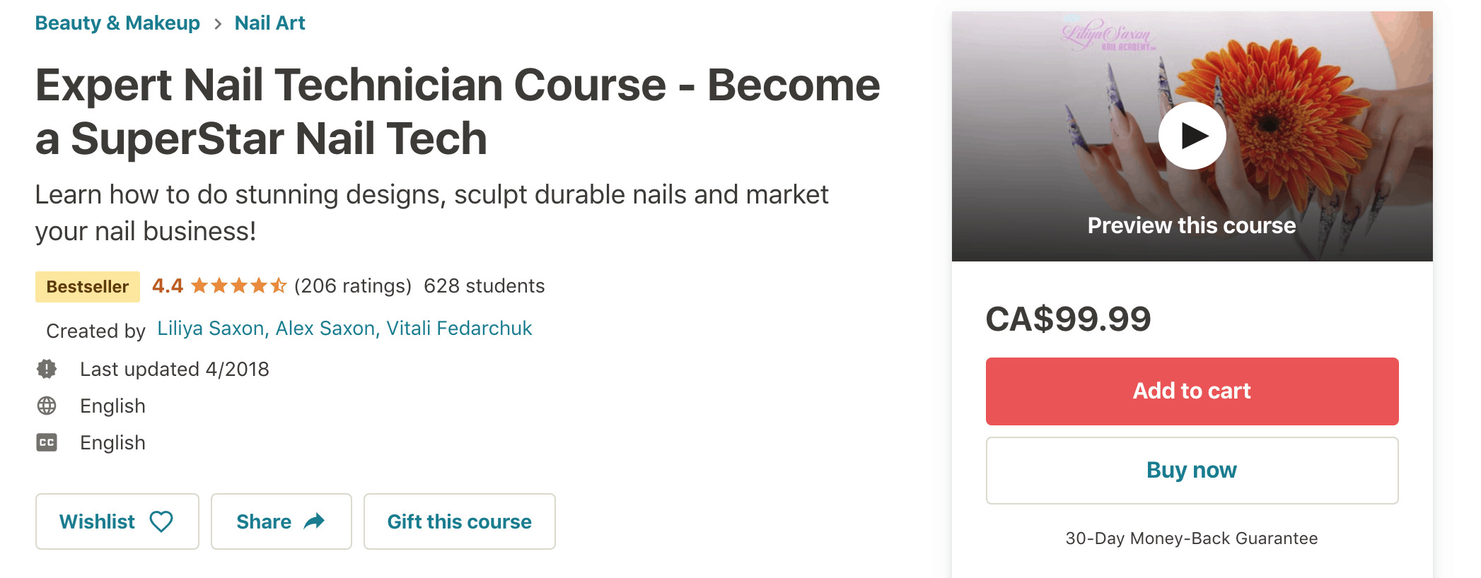Udemy Online Nail Technician Course: screenshot