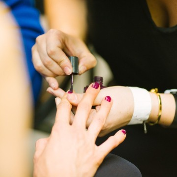 Online nail technician courses featured: manicurist