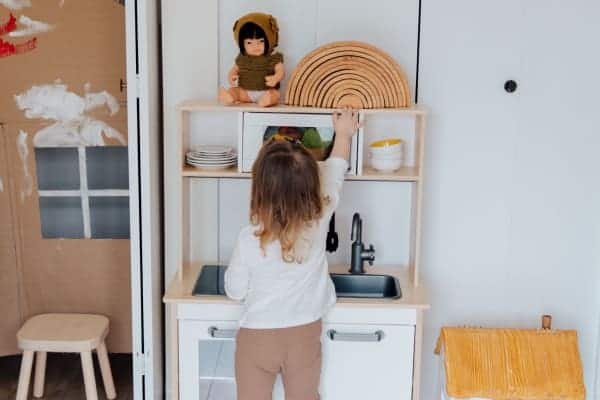 Best Wooden Play Kitchen Sets For Toddlers, pic of toddler