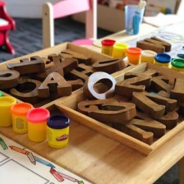 Kindergarten Homeschool Schedule, pic of activities