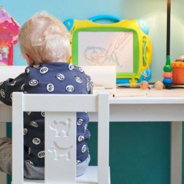 homeschool desk, pic of kids homeschool desk