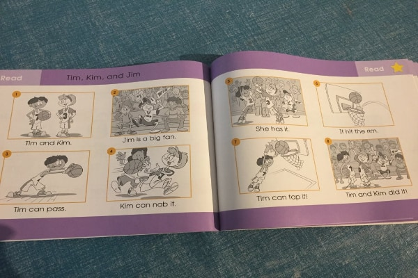hooked on Phonics review level 3 Kindergarten workbook