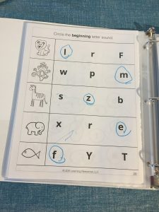 Preschool Literacy Curriculum Binder, pic of binder