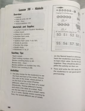 Horizons Math K Review Teacher's Guide, pic of book