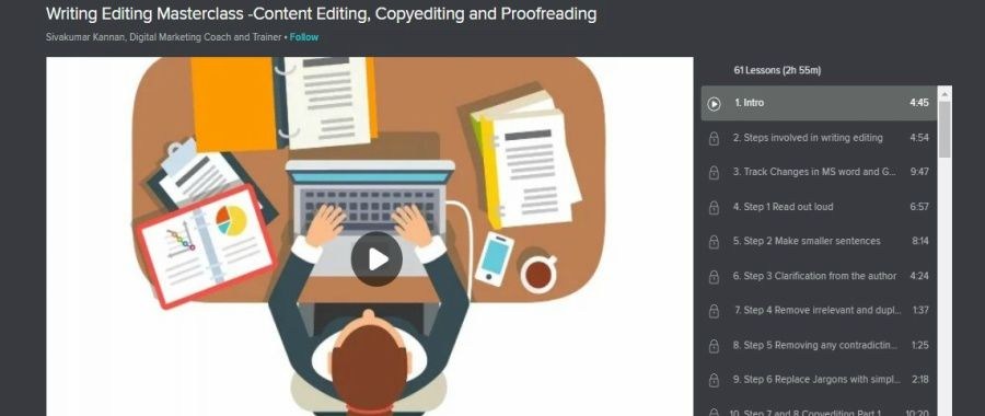 Skillshare-Masterclass-–content-editing-copy-editing-and-proofreading, pic about course